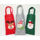 wholesale Bags & Travel accessories: Felt bag 22x8cm including handle, 3-fold sortier