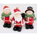 wholesale Home & Living: Santa, child and snowman 7x5,5x4cm,
