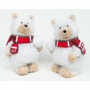 wholesale Toys: Polar bear 8x6x5cm decorated with glitter handpain