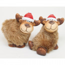 wholesale Dolls &Plush: Sweet moose with fur 8x7x4cm 2 poses assorted ,