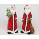 Santa XL 14x6x5cm zsákkal vagy fa és csillogás,
