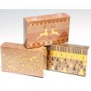 Großhandel Geschenkartikel & Papeterie: Geschenkbox Natur-Look 16x10x4cm 3 Motive ...