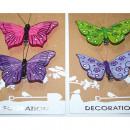 Butterflies set of 2, each 8x8cm, bright colors