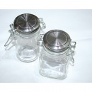 Großhandel Küchenutensilien: Vorratsglas 8,5x7x4,5cm mit Edelstahldeckel ...