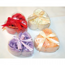wholesale Home & Living: Soap flower-roses set of 3 each 4g packed, each 10