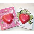 Bath bomb in heart shape, 100g, funny backcard