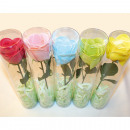 Großhandel Drogerie & Kosmetik: Seife Rose mit Stiel 52,5x5cm , Farben sortiert