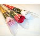 grossiste Cadeaux et papeterie: Savon Rose avec 52,5x5cm souches, couleurs assorti