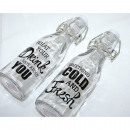 wholesale Decoration: Drinking and decorative glass bottle 20x6cm, 2 tim