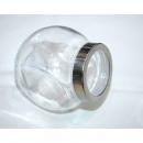 wholesale Decoration: Storage ball glass XL 12x10x7, 5cm, stainless stee