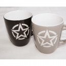 Coffee Mug Star Design 210ml, 2 designs assorted