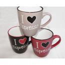 Coffee Mug / Espresso Cup Heart Design 210ml