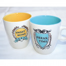 Coffee Mug 10x8,5x7,5cm, Break Time - Design