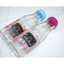 Drinking bottle with peppy colored twist lock