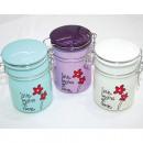 Storage Jar Flowers 10x9x6,5cm with clip closure