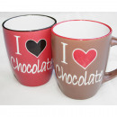 Coffee Mug XL 360ml Chocolate-Design 2-fold sort