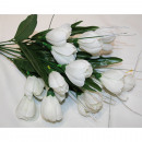 wholesale Artificial Flowers: Bouquet of tulips 44x25cm with 21 flower heads