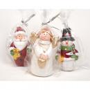 hurtownia Mieszkanie & Dekoracje: Anioł, Santa i Snowman 8x5cm w ceniony Foli