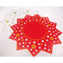 wholesale Table Linen: Placemat with wide star shape, star shape, 40cm m