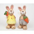 Rabbit with carrot, 11,5x6x6,5cm rabbit and rabbit