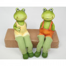 wholesale Figures & Sculptures: Frog 17x9x5cm as edge of edge, 2 times assorted