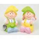 Dzieci 10x5x5cm z słodkie twarzy, ceramiki