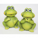 wholesale Figures & Sculptures: Frog with big eyes 9x8x6cm, 2 poses assorted