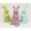 Bunny 12x6cm in pastel times assorted 3 times asso
