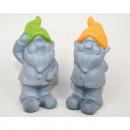 Garden gnome trend with colored cap, 2-fold sorti