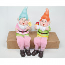 wholesale Garden & DIY store: Kantensitzer Garden Gnome 18x10 x5,5cm 2-fold sort