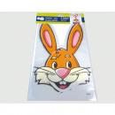 Großhandel Spielwaren: Zellotüte mit Hasengesicht 5er Set XL 300x180mm
