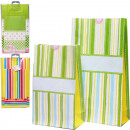 Gift bags set of 2 with folding bottom 27x15 + 21x