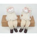 groothandel Speelgoed: Schapen met pels als edge zitplaatsen 16x9x6cm