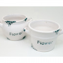 wholesale Garden & DIY store: Plant pot 11x9cm in antique enamel look