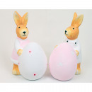 wholesale Figures & Sculptures: Bunny XL with big egg 13x10x6cm 2 times assorted