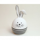 Bunny with stripes 11x6,5cm, colors assorted