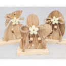 wholesale Decoration: Wooden decoration XL 13x10x4,5cm on a wide wooden