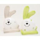 wholesale Figures & Sculptures: Sweet bunny with flowers 11.5x7x4cm colors assorte