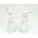 Very noble bunny pearly glazed 11x5x4cm