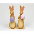 Bunny XL 14x5cm with egg, 2 times assorted , made