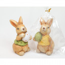 Bunny in cello bag 7,5x4cm, 2 times assorted