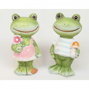 wholesale Figures & Sculptures: Sweet frog 9x4,5cm, 2 times assorted