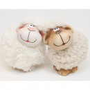 Sheep 9x8cm with cuddly fur, 2 times assorted