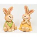 Sitting rabbit 9,5x5cm, 2-fold sort