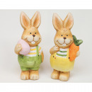 Sweet rabbit with egg without carrot 10x5cm 2-fold