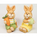 Rabbit with egg without carrot sitting 10x5cm 2-fo