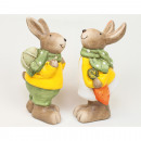 Bunny XL 12,5x7cm with egg or carrot 2-fold sortie