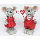 mayorista Articulos de broma: Ratón premium con corazón de metal 10x5cm, 2 veces
