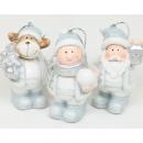 Święty Mikołaj, łoś lub dziecko 6,5x4,5x3,5 cm z b