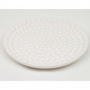 wholesale Decoration: Candle plate white with pearls 15cm from Dolomeit